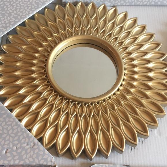 Wall Art Gold Art Deco Mirror Three Piece Set Poshmark